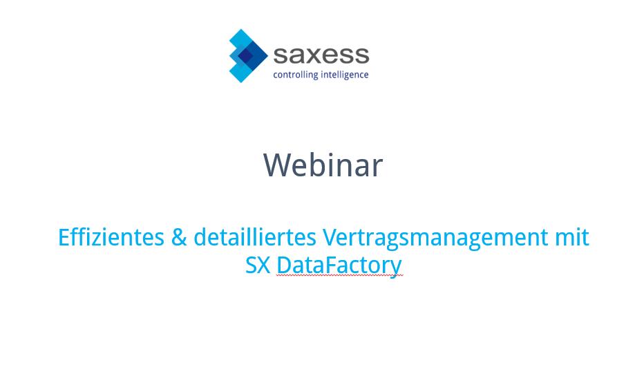 """Aufzeichnung Webinar """"Effizientes & detailliertes Vertragsmanagement mit SX DataFactory"""" ist online"""