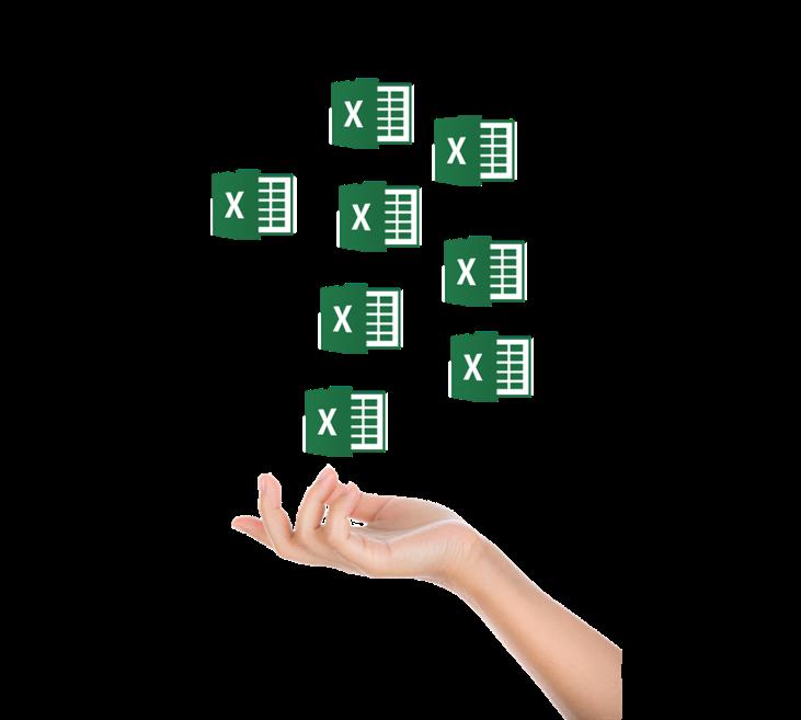Hand-Excel-Listen